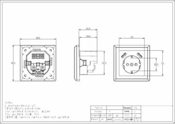 230 V Steckdose mit 2 x USB Ladegeräten, Schuko Wandsteckdose Unterputz, passend für Gira System 55 E2, Anthrazit (Grau), TÜV Rheinland zertifiziert (Einfachsteckdose) - 4