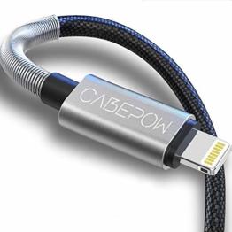 2Pack 2M iPhone Ladekabel, [ MFi Certified ] Fortgeschritten Frühling Lang Lightning Kabel 6ft, Schnellladung USB Ladekabel für iPhone 11/XS/XSMax/XR/X/8/8 Plus/7/7Plus/ 6s/6/6Plus/5S/5, iPad. - 1