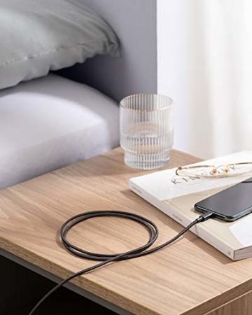 Anker iPhone Ladekabel, Lightning Kabel 1.8m 2 Pack doppelt geflochtenes Premium Nylon Lightning Kabel,[MFi Zertifiziert] für iPhone XS/XS Max/XR/X/8/8 Plus/7/7 Plus/6, iPad und weitere (Schwarz) - 3