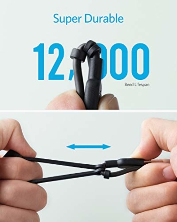 Anker Powerline II 3-in-1 Kabel, 0.9m langes Lightning/USB-C/Mikro-USB Kabel, für iPhone, iPad, LG, Galaxy, Xperia, Android Handys und viele mehr (Schwarz) - 2