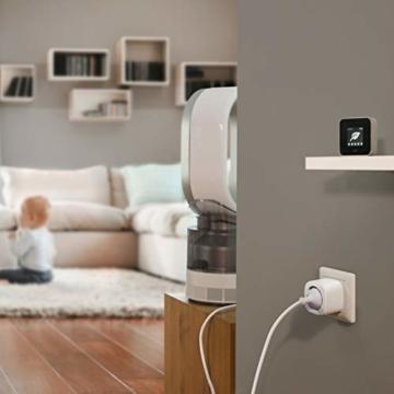 Eve Energy - Smarte Steckdose (deutsche Markenqualität), TÜV-zertifiziert, Verbrauchsmessung, Zeitpläne, schaltet Geräte ein & aus, keine Bridge nötig, Smart Plug, Apple Homekit, Bluetooth, Thread - 3