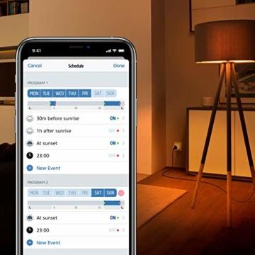 Eve Energy - Smarte Steckdose (deutsche Markenqualität), TÜV-zertifiziert, Verbrauchsmessung, Zeitpläne, schaltet Geräte ein & aus, keine Bridge nötig, Smart Plug, Apple Homekit, Bluetooth, Thread - 4