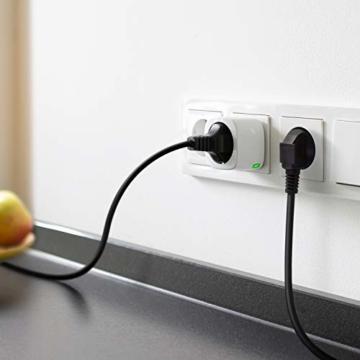 Eve Energy - Smarte Steckdose (deutsche Markenqualität), TÜV-zertifiziert, Verbrauchsmessung, Zeitpläne, schaltet Geräte ein & aus, keine Bridge nötig, Smart Plug, Apple Homekit, Bluetooth, Thread - 5