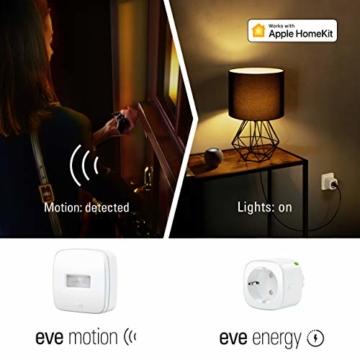 Eve Energy - Smarte Steckdose (deutsche Markenqualität), TÜV-zertifiziert, Verbrauchsmessung, Zeitpläne, schaltet Geräte ein & aus, keine Bridge nötig, Smart Plug, Apple Homekit, Bluetooth, Thread - 6