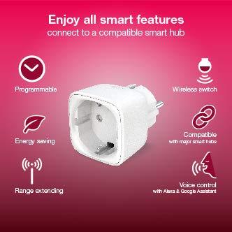 Innr SmartPlug, kompatibel mit Philips Hue*, Alexa, Google Home (bridge erforderlich), intelligente Funksteckdose, 2300W, Zigbee 3.0, 2-Pack, SP 220-2 - 3
