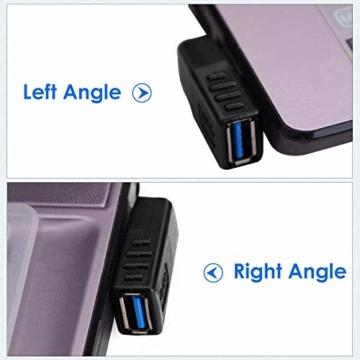 KIMILAR 2-tlg USB 3,0 Adapter rechtwinklig und linken Winkel-Stecker/Buchse USB Winkelstecker Connector-Extender Stecker Kupplung 2ST (einschließlich der linken und rechten Winkel-Adapter) - 7