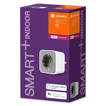 LEDVANCE Smart+ Plug, ZigBee schaltbare Steckdose, für die Lichtsteuerung in Ihrem Smart Home, Direkt kompatibel mit Echo Plus und Echo Show (2. Gen.), Kompatibel mit Philips Hue Bridge - 5