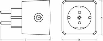 LEDVANCE Smart+ Plug, ZigBee schaltbare Steckdose, für die Lichtsteuerung in Ihrem Smart Home, Direkt kompatibel mit Echo Plus und Echo Show (2. Gen.), Kompatibel mit Philips Hue Bridge - 8
