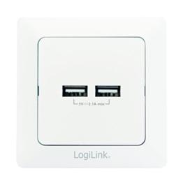 logilink pa0163 steckdose mit 2x usb zum laden von smartphones handys ebooks tab