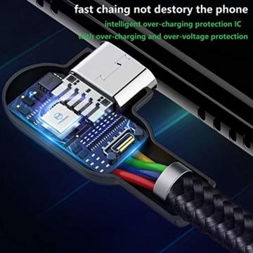 Mcdodo 90 Grad Micro USB Kabel rechtwinklig 2A High Speed Android Ladegerät Kabel Daten Sync Ladekabel Kompatibel with Galaxy S6 / S7 / S4 / S3 Huawei(0.5m) - 4