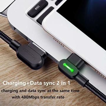 Mcdodo 90 Grad Micro USB Kabel rechtwinklig 2A High Speed Android Ladegerät Kabel Daten Sync Ladekabel Kompatibel with Galaxy S6 / S7 / S4 / S3 Huawei(0.5m) - 6