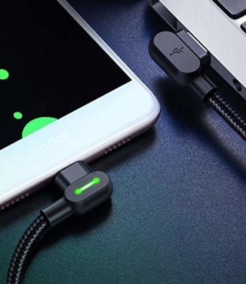Mcdodo 90 Grad Micro USB Kabel rechtwinklig 2A High Speed Android Ladegerät Kabel Daten Sync Ladekabel Kompatibel with Galaxy S6 / S7 / S4 / S3 Huawei(0.5m) - 9