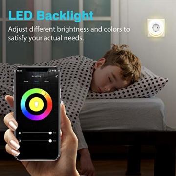 MoKo Alexa Wlan Steckdose mit 2 USB Ports und Smart Lampe, Intelligente Stecker Wifi Plug Kompatibel mit Alexa Echo Google Home Smart Life SmartThings, APP Fernsteurung Sprachsteuerung Timer - 2 Packs - 5