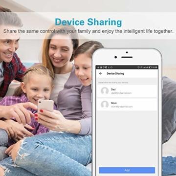 MoKo Alexa Wlan Steckdose mit 2 USB Ports und Smart Lampe, Intelligente Stecker Wifi Plug Kompatibel mit Alexa Echo Google Home Smart Life SmartThings, APP Fernsteurung Sprachsteuerung Timer - 2 Packs - 7