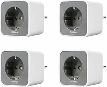 OSRAM Smart+ Plug, ZigBee schaltbare Steckdose, für die Lichtsteuerung in Ihrem Smart Home, Direkt kompatibel mit Echo Plus und Echo Show (2. Gen.), Kompatibel mit Philips Hue Bridge, 4er Pack - 1
