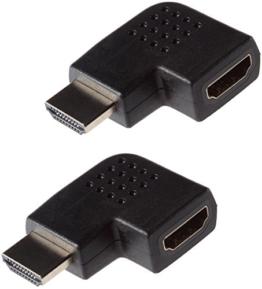 Poppstar 2X HDMI Winkelstecker 270 Grad horizontal (TV Winkeladapter Eck, Stecker auf Buchse, 4k UHD 2160p), Winkel Adapter für Verlängerung Kabel, vergoldete Kontakte - 1