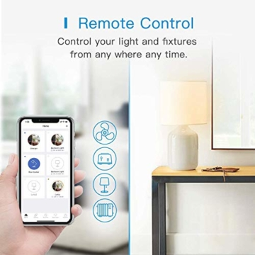 Smart Doppelstecker kompatibel mit Apple HomeKit, meross WLAN Steckdose Intelligent WiFi Plug, Doppelsteckdose funktioniert mit Siri, Alexa, Google Assistant, 2,4 GHz - 2