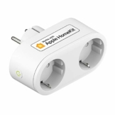 Smart Doppelstecker kompatibel mit Apple HomeKit, meross WLAN Steckdose Intelligent WiFi Plug, Doppelsteckdose funktioniert mit Siri, Alexa, Google Assistant, 2,4 GHz - 1