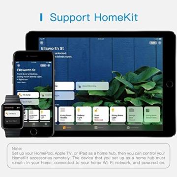 Smart Doppelstecker kompatibel mit Apple HomeKit, meross WLAN Steckdose Intelligent WiFi Plug, Doppelsteckdose funktioniert mit Siri, Alexa, Google Assistant, 2,4 GHz - 5
