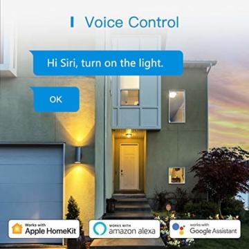 Smart Doppelstecker kompatibel mit Apple HomeKit, meross WLAN Steckdose Intelligent WiFi Plug, Doppelsteckdose funktioniert mit Siri, Alexa, Google Assistant, 2,4 GHz - 8