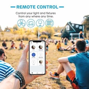 Smart Steckdose funktioniert mit Apple HomeKit, meross WLAN Plug, Inteilligent Stecker, kompatibel mit Siri, Alexa, Google Assistant und Samsung SmartThings, kein Hub erforderlich, 16 A, 2,4 GHz, 4pcs - 6