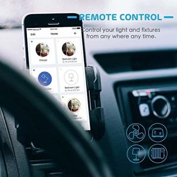 Smart Steckdose funktioniert mit Apple Siri, meross WLAN Plug, Intelligent Stecker, kompatibel mit Apple Homekit, Alexa, Google Assistant und SmartThings, kein Hub erforderlich, 16 A, 2,4 GHz, 3 pcs - 8
