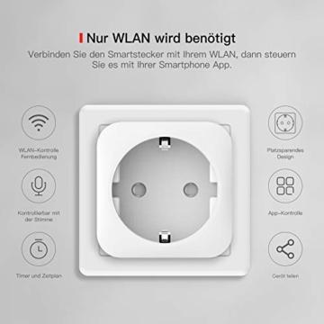 TECKIN WLAN Smart Steckdose 16A Wifi Steckdose Intelligente Mini Plug , funktioniert mit Android und iOS Siri und Google Home (2 PACK) - 2