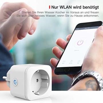 TECKIN WLAN Smart Steckdose 16A Wifi Steckdose Intelligente Mini Plug , funktioniert mit Android und iOS Siri und Google Home (2 PACK) - 5