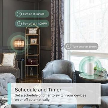 TP-Link Kasa Amazon Alexa zubehör Smart Home Wifi WLAN Steckdose KP105(EU)(Mini, funktioniert mit Google Home und SmartThings, Zeitpläne, Kein Hub erforderlich, Kasa App) - 3