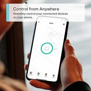 TP-Link Kasa Amazon Alexa zubehör Smart Home Wifi WLAN Steckdose KP105(EU)(Mini, funktioniert mit Google Home und SmartThings, Zeitpläne, Kein Hub erforderlich, Kasa App) - 4