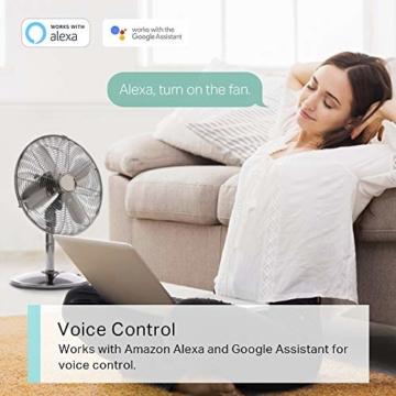 TP-Link Kasa Amazon Alexa zubehör Smart Home Wifi WLAN Steckdose KP105(EU)(Mini, funktioniert mit Google Home und SmartThings, Zeitpläne, Kein Hub erforderlich, Kasa App) - 5