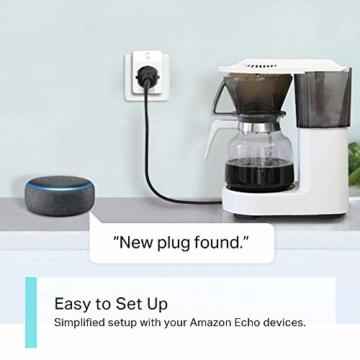 TP-Link Kasa Amazon Alexa zubehör Smart Home Wifi WLAN Steckdose KP105(EU)(Mini, funktioniert mit Google Home und SmartThings, Zeitpläne, Kein Hub erforderlich, Kasa App) - 6