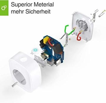 USB Steckdose,Gosund Smart Wlan Steckdose Alexa Steckdosen mit USB überspannungsschutz Stromverbrauch messen Timer Funktion Fernsteurung ohne Hub benötig, 16A-3680W - 5