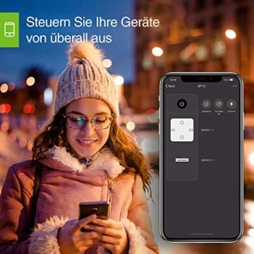 USB Steckdose,Gosund Smart Wlan Steckdose Alexa Steckdosen mit USB überspannungsschutz Stromverbrauch messen Timer Funktion Fernsteurung ohne Hub benötig, 16A-3680W - 6