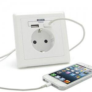 SkaizeTM UQ442 Schuko Steckdose mit USB Ladegerät